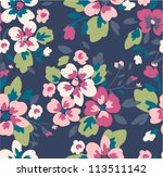 seamless flower pattern... | Shutterstock .eps vector #113511142
