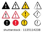 caution warning attention sign...   Shutterstock .eps vector #1135114238