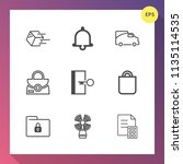 modern  simple vector icon set... | Shutterstock .eps vector #1135114535