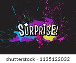 brigh paint spots and... | Shutterstock .eps vector #1135122032