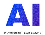 ai blue letter from line icon  | Shutterstock .eps vector #1135122248