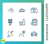 modern  simple vector icon set... | Shutterstock .eps vector #1135131095