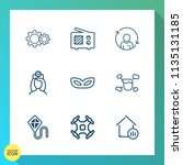 modern  simple vector icon set... | Shutterstock .eps vector #1135131185