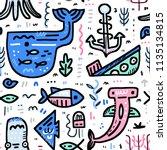 marine life boundless... | Shutterstock .eps vector #1135134815
