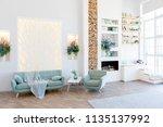 fashionable spacious apartment... | Shutterstock . vector #1135137992