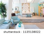 fashionable spacious apartment... | Shutterstock . vector #1135138022