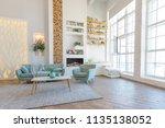 fashionable spacious apartment... | Shutterstock . vector #1135138052