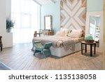 fashionable spacious apartment... | Shutterstock . vector #1135138058