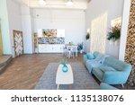 fashionable spacious apartment... | Shutterstock . vector #1135138076