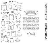 hand drawn doodle stop plastic...   Shutterstock .eps vector #1135138328