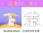 children's coloring book with... | Shutterstock .eps vector #1135145126