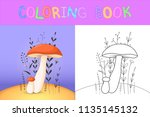 children's coloring book with... | Shutterstock .eps vector #1135145132