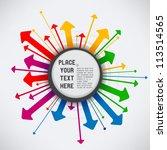 explosive arrows | Shutterstock .eps vector #113514565