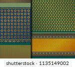 indian pattu sari vector... | Shutterstock .eps vector #1135149002