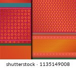 indian pattu sari vector... | Shutterstock .eps vector #1135149008