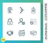 modern  simple vector icon set... | Shutterstock .eps vector #1135149998