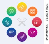 modern  simple vector icon set... | Shutterstock .eps vector #1135154528