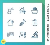 modern  simple vector icon set... | Shutterstock .eps vector #1135155782