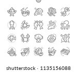 seafood well crafted pixel... | Shutterstock .eps vector #1135156088