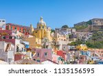 vibrantly colorful housing of... | Shutterstock . vector #1135156595