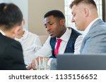 business people working... | Shutterstock . vector #1135156652