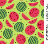 fruit seamless pattern with... | Shutterstock .eps vector #1135167668