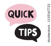 quick tips. vector hand drawn...   Shutterstock .eps vector #1135167722