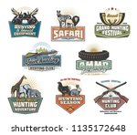 safari hunting sport icons and... | Shutterstock .eps vector #1135172648