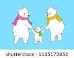 cartoon cute family polar bear...   Shutterstock .eps vector #1135172852