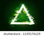 glitched triangle frame design. ... | Shutterstock .eps vector #1135176125