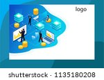 technology data analysis with...   Shutterstock .eps vector #1135180208