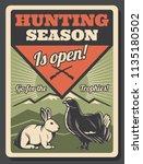 open hunting season retro...   Shutterstock .eps vector #1135180502