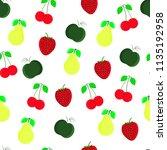 fruit seamless pattern wirth... | Shutterstock .eps vector #1135192958