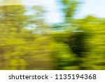 nature in motion from the train ... | Shutterstock . vector #1135194368