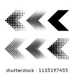 a set of modern arrows in the... | Shutterstock .eps vector #1135197455