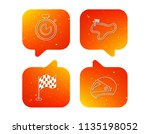 race flag  timer and motorcycle ... | Shutterstock .eps vector #1135198052