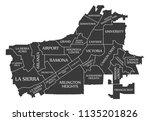 riverside california city map... | Shutterstock .eps vector #1135201826