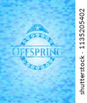 offspring sky blue emblem with...   Shutterstock .eps vector #1135205402