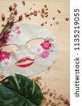 korean beauty products  sheet... | Shutterstock . vector #1135219055