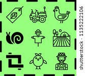 simple 9 icon set of farm... | Shutterstock .eps vector #1135222106