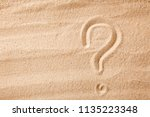 the question mark is sand... | Shutterstock . vector #1135223348