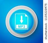 white mp3 file document icon... | Shutterstock . vector #1135223975