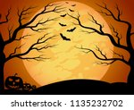 halloween vector background... | Shutterstock .eps vector #1135232702
