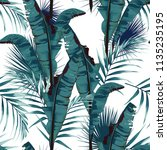 tropic summer painting seamless ... | Shutterstock .eps vector #1135235195