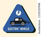 electric vehicle vector logo ... | Shutterstock .eps vector #1135235948