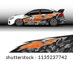 car decal graphic vector  truck ... | Shutterstock .eps vector #1135237742