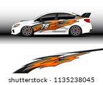 car decal graphic vector  truck ... | Shutterstock .eps vector #1135238045