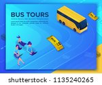 bus travel concept  landing... | Shutterstock .eps vector #1135240265