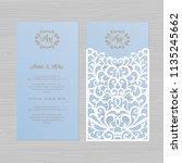 luxury wedding invitation or... | Shutterstock .eps vector #1135245662