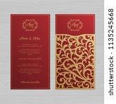 luxury wedding invitation or...   Shutterstock .eps vector #1135245668